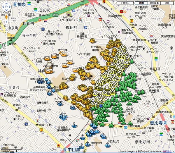 代官山 GoogleMaps