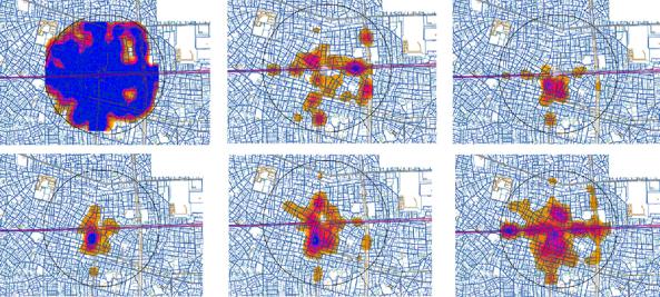 グラフィティの分布パターン