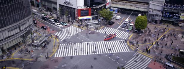 Shibuya street rowing