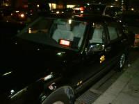 黒いタクシー
