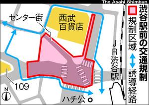 渋谷駅前封鎖