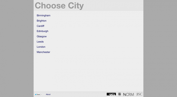 CityDashboard- Choose City