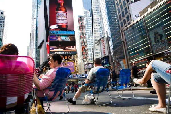 タイムズスクエアの椅子