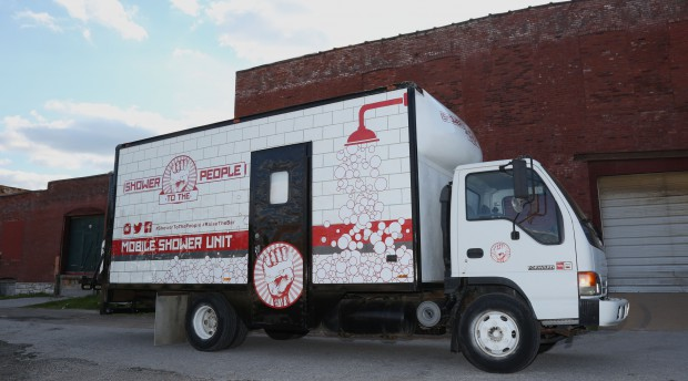 mobile shower truck